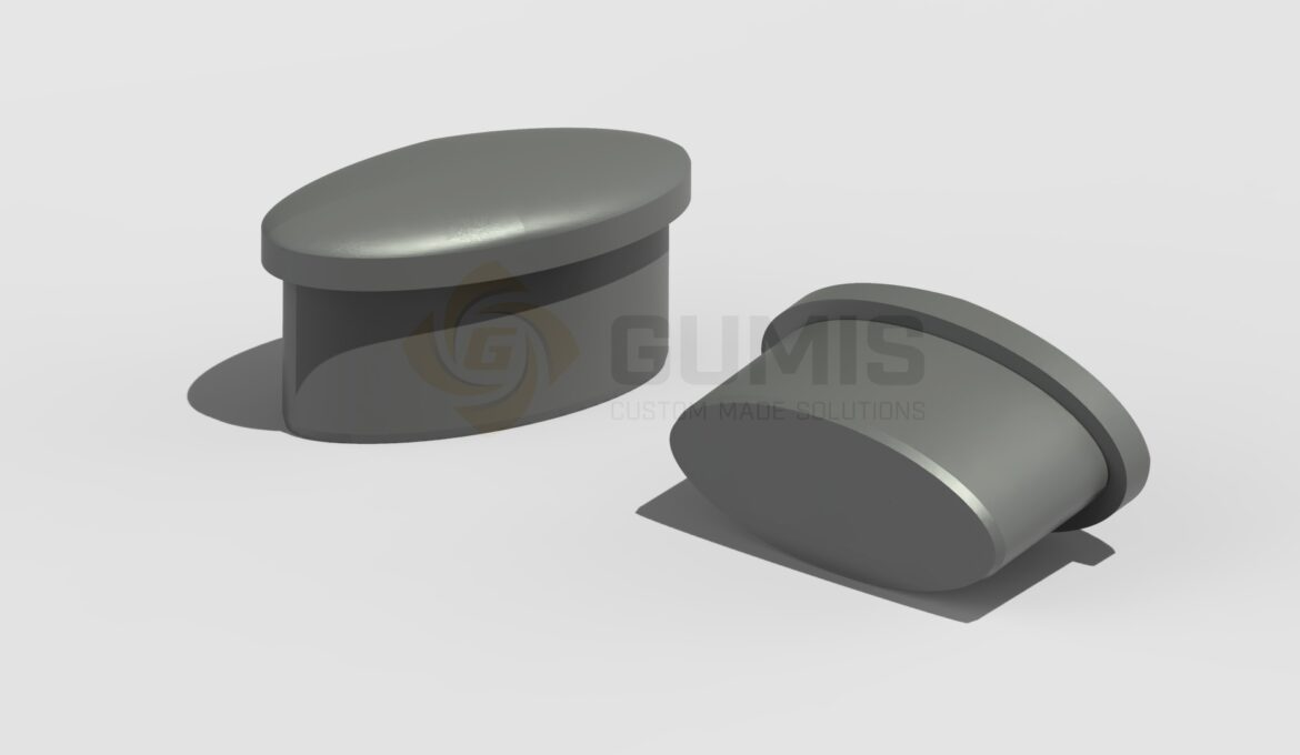 Eliptical Rubber Plug