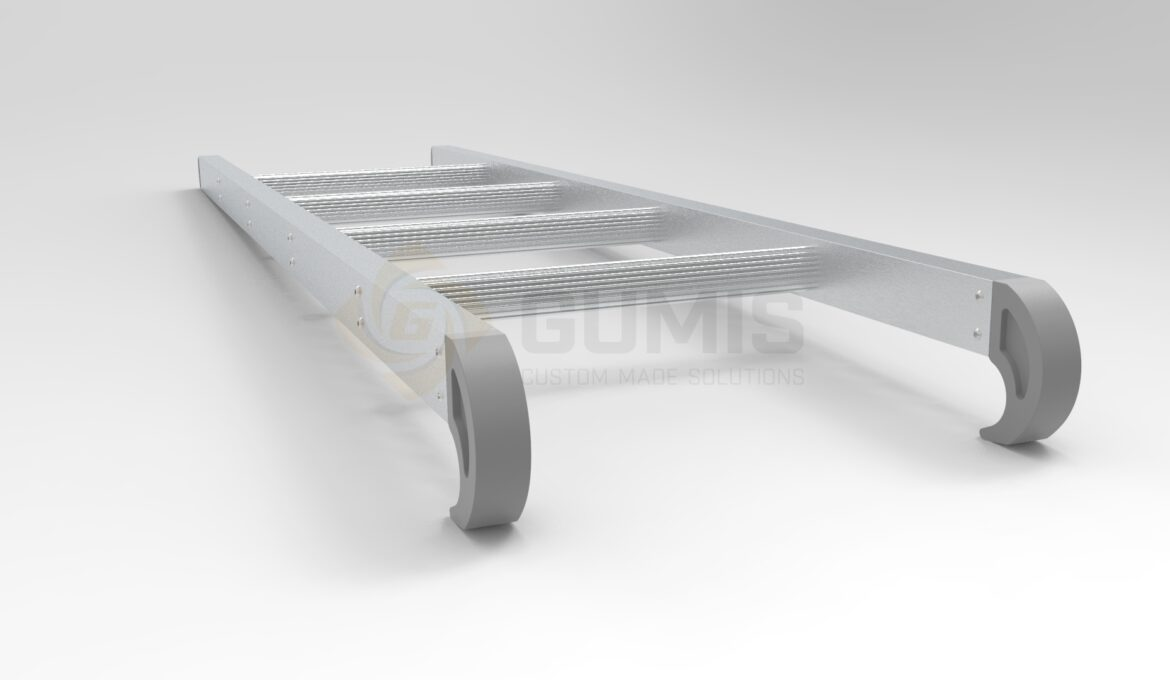 Aluminum Bunk Bed Ladders with Rubber Protective plugs and Hooks
