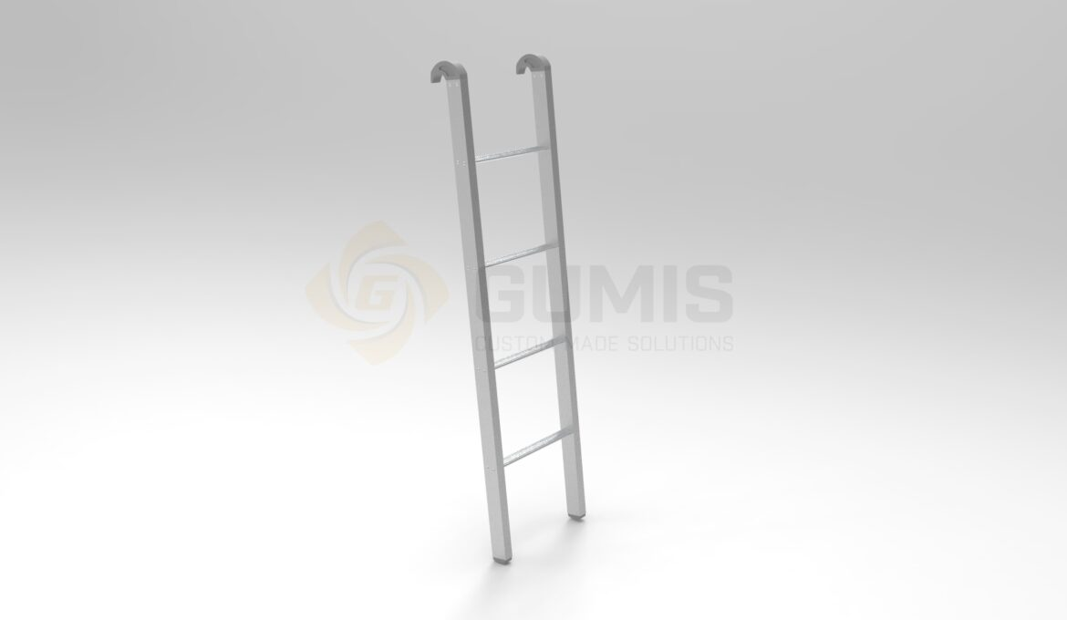 Aluminum Bunk Bed Ladders with Rubber Protective plugs and Hooks 2