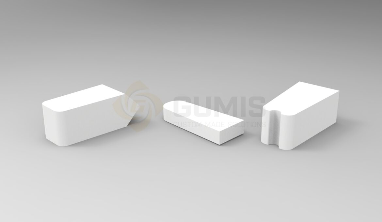 White Rubber Drain Shutters