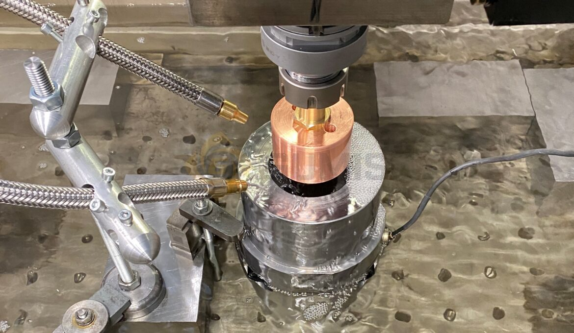 Process of spark eroding on AGIE