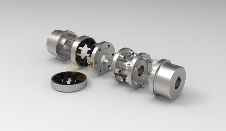 Gumis circulating pump AHU coupling