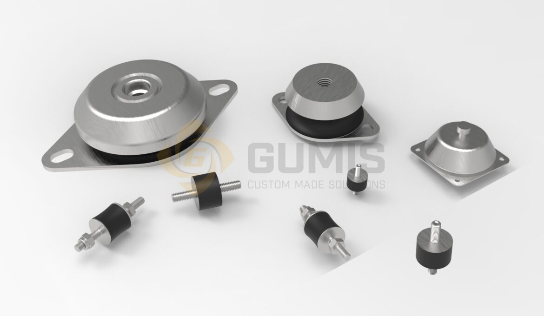 Various antivibration pump mounts