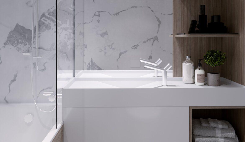 Eumar design restroom on cruise ship