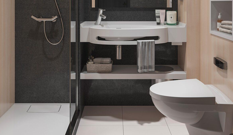 Eumar design toilet on cruise ship