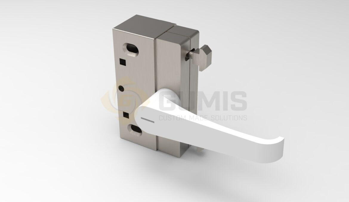 Lock and handle for sliding door