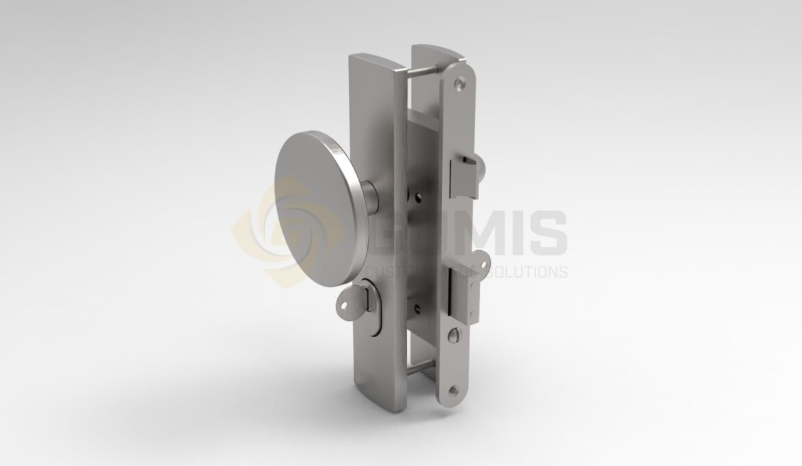Lock and handle with ball for door