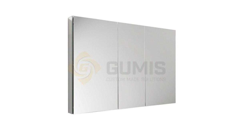 Medicine mirror cabinet with 3 doors