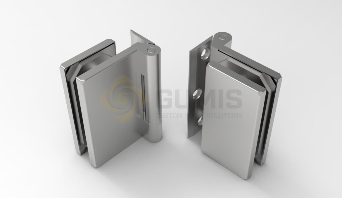 Stainles steel hinges for glass doors