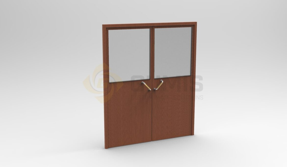 Swing kitchen door