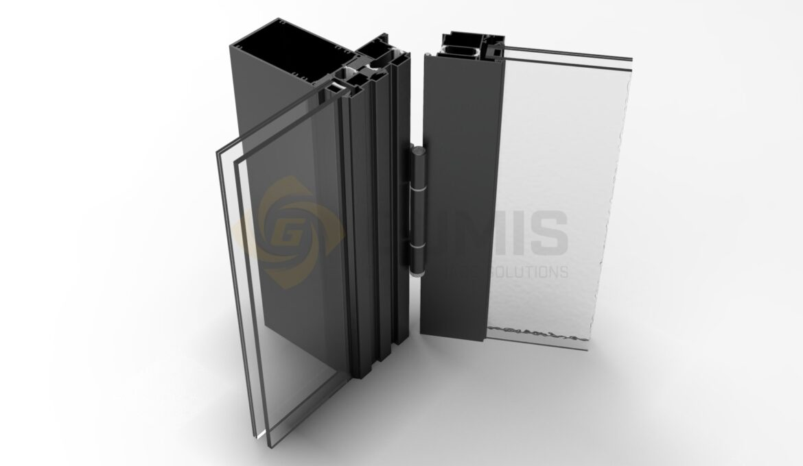 Various aluminum or PVC doors