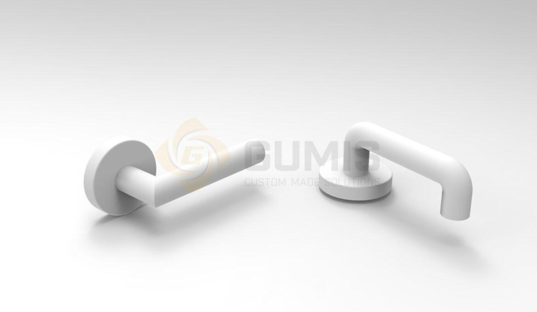 Various types of balcony door handles