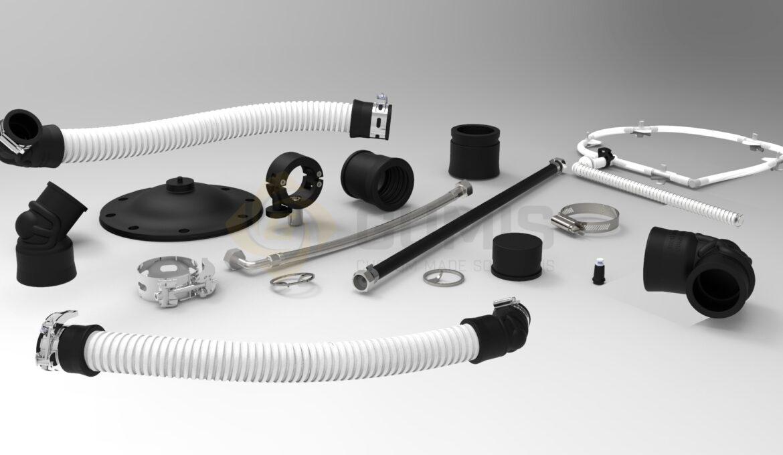 Various vacuum system spares