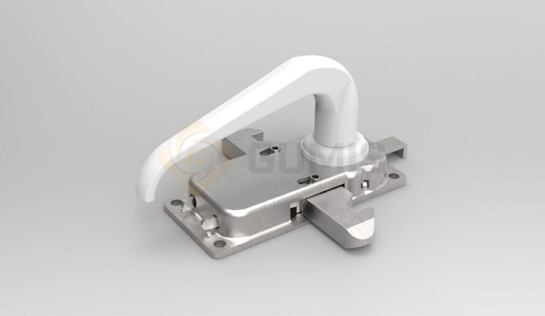 Balcony door handle mechanism