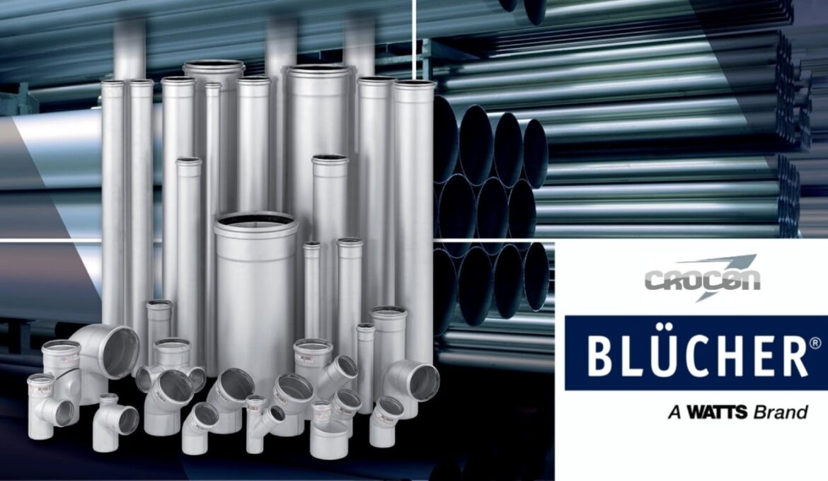 Blucher drainage pipes and fittings