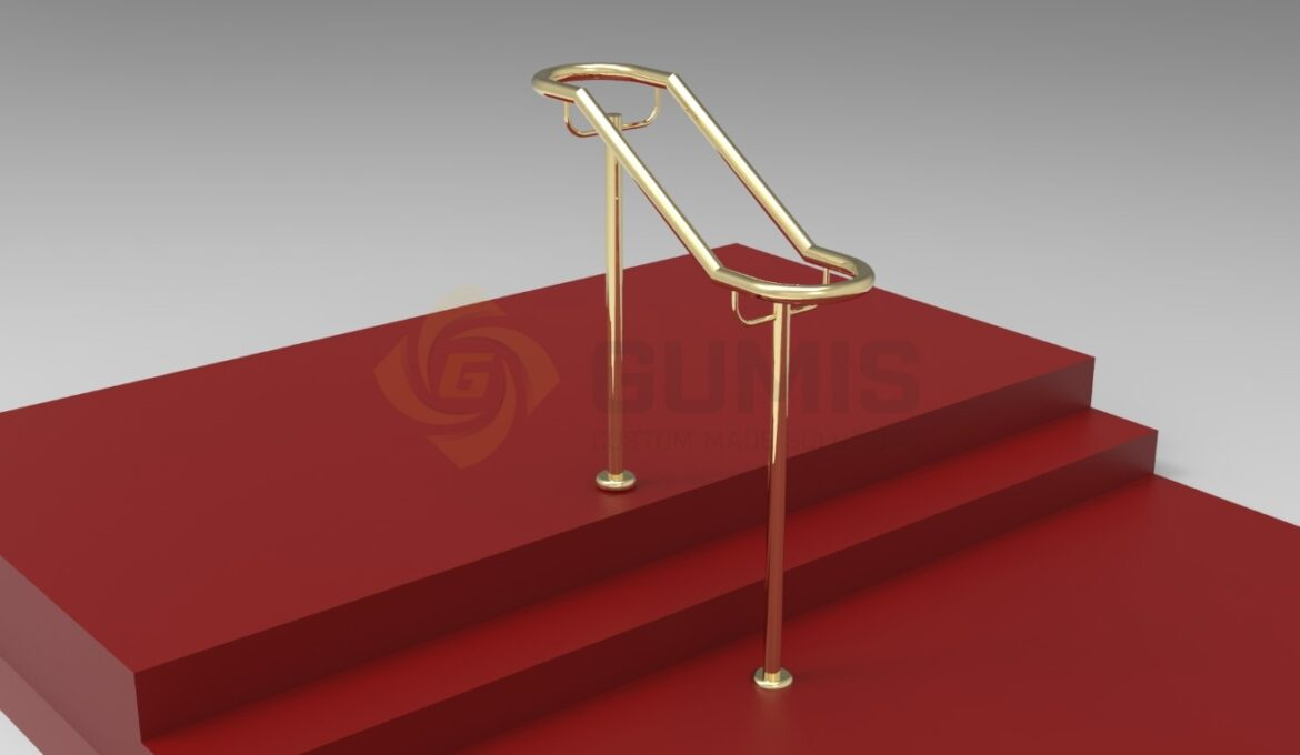 Brass stairs railing