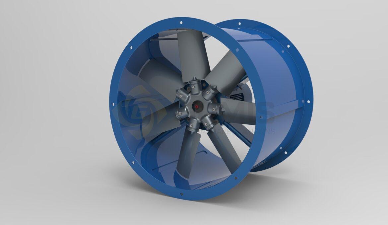 Complete ventilation fan unit
