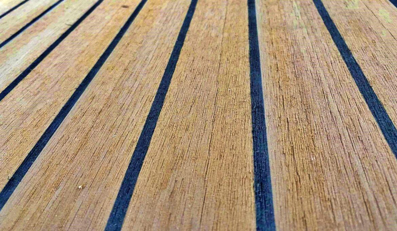 Composite teak decking sheats