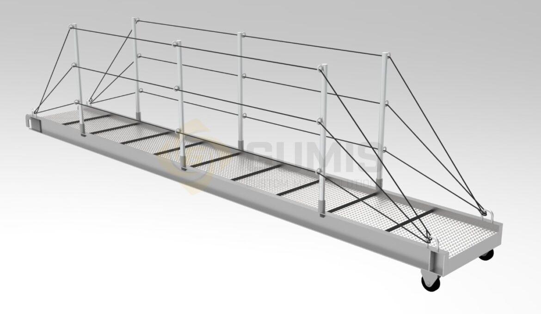 Custom made aluminum gangway