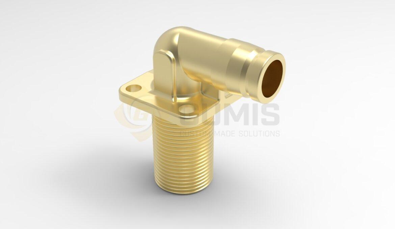 Custom made brass fitting