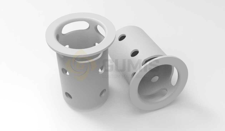 Custom made plastic drain scooper