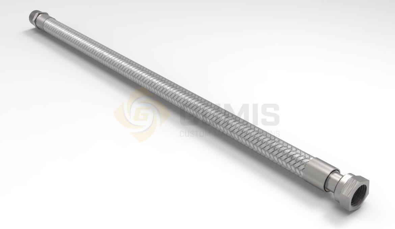 Flexible stainless steel steam hose