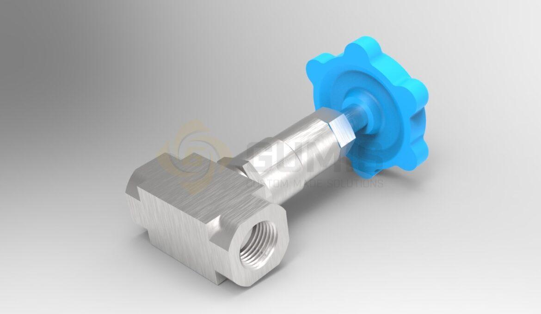 Needle stainless steel valve