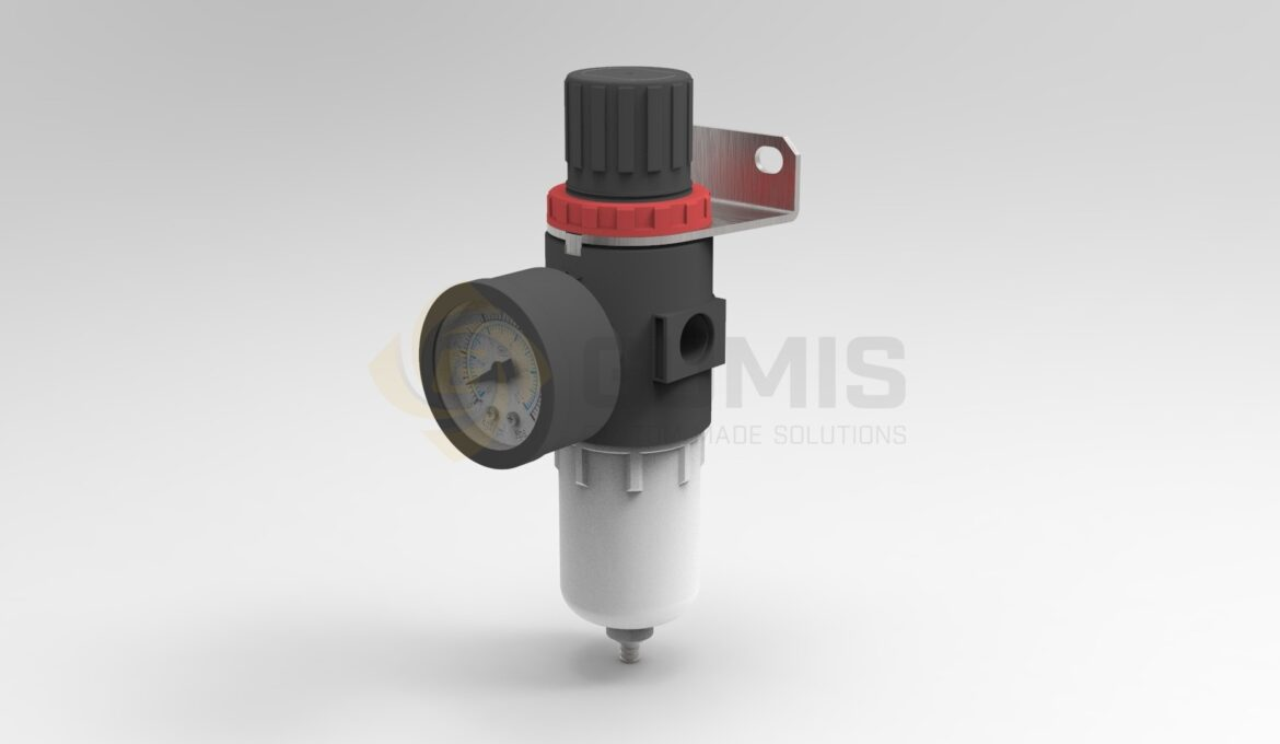 Pneumatic filter with reducing valve