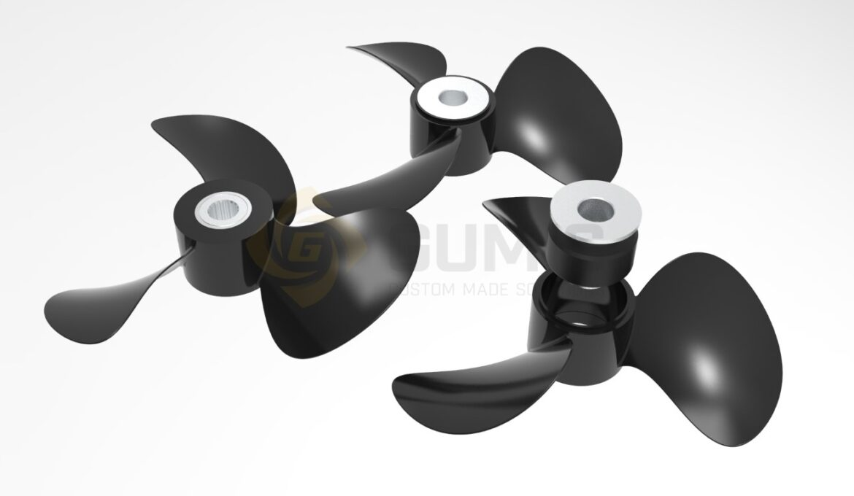 Repairing propeller rubber bushing