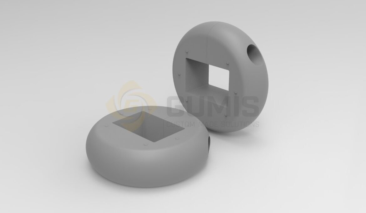 Round rubber bumper for trolley