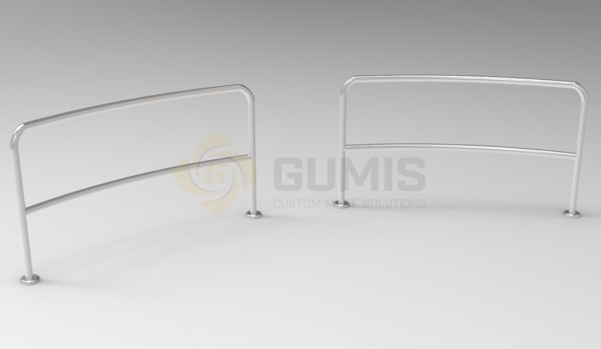 Stainles steel rounded railing