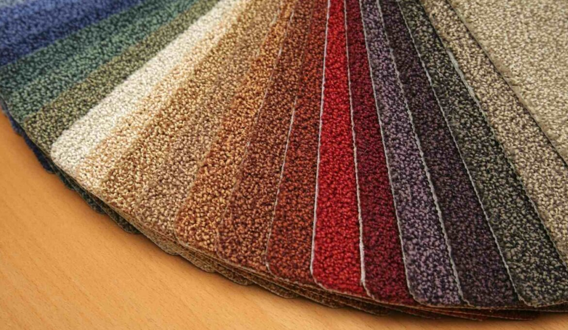 Various colors of carpets