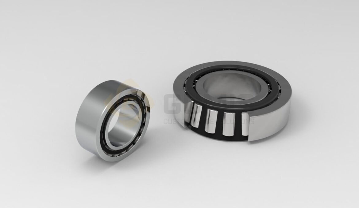 Various types of bearings