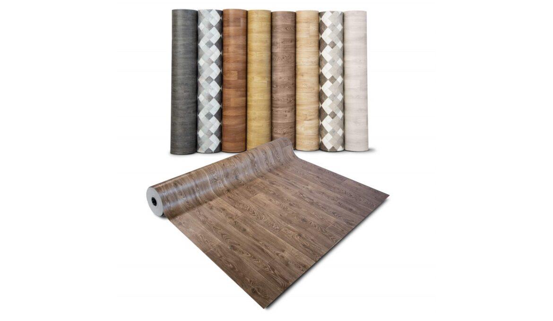 Various types of linoleum flooring