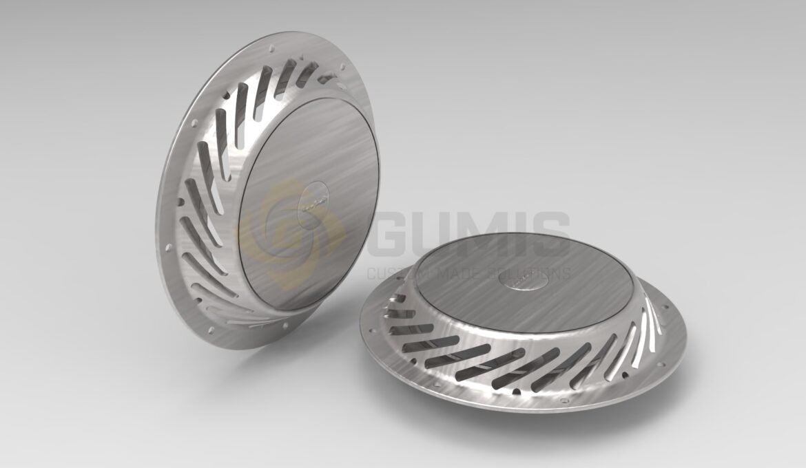 Ventilation SS round grill