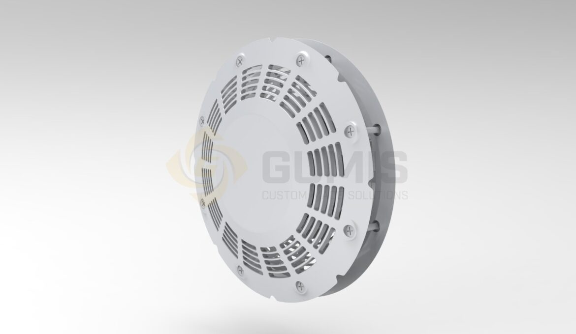 Ventilation double side round grill