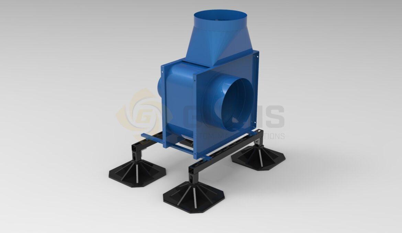 Ventilation unit with mount rack