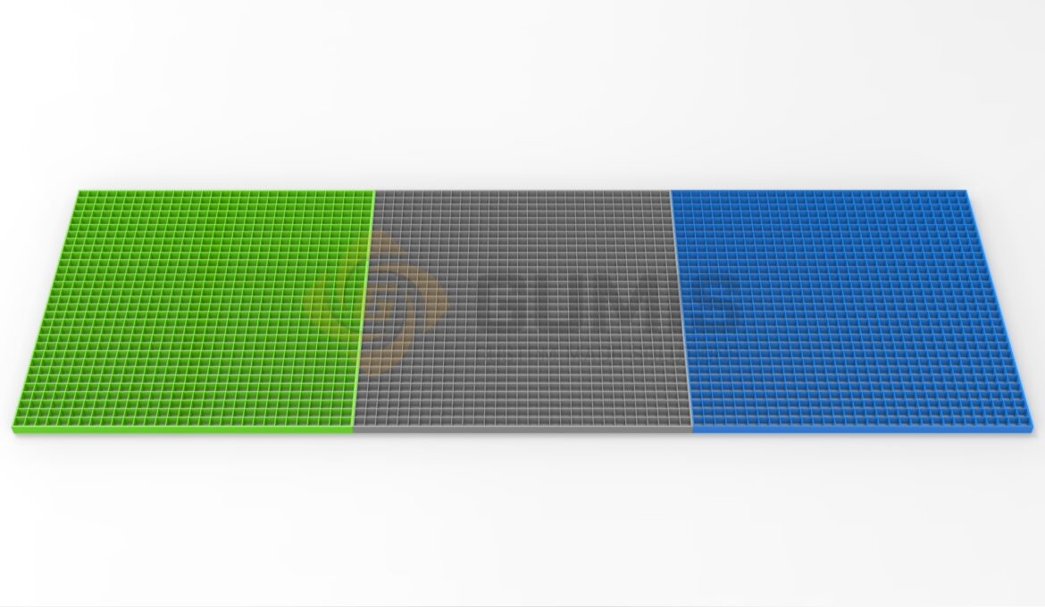 FRP grating in different sizes and colors