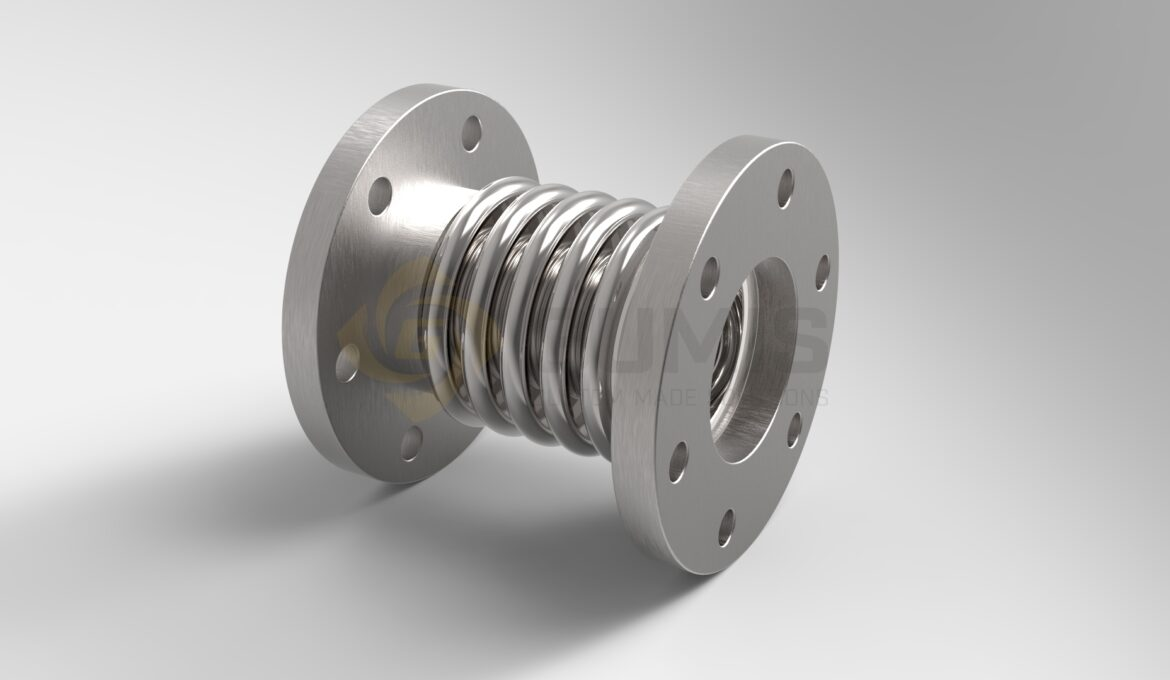 Stainless steel expansion joint by Willbrandt, Elaflex or Stenflex